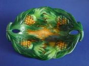 Rare George Jones Majolica 'Pineapple' Serving Dish c1880